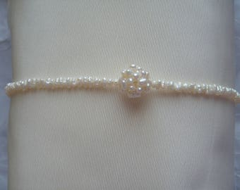 BRIDAL NECKLACE WITH FRESH WATER PEARL