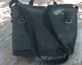 Vintage Heavy Duty Large Canvas Military Messenger Bag Vintage Army bag Book Bag Camping Bag