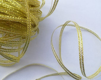 Fancy Organza polyester Ribbon - 3 mm x 2 m - Christmas, oriental, baroque... - for decoration, customization, sewing, scrapbooking...
