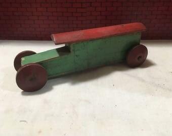 Nice Antique Wood Toy Delivery Van Truck