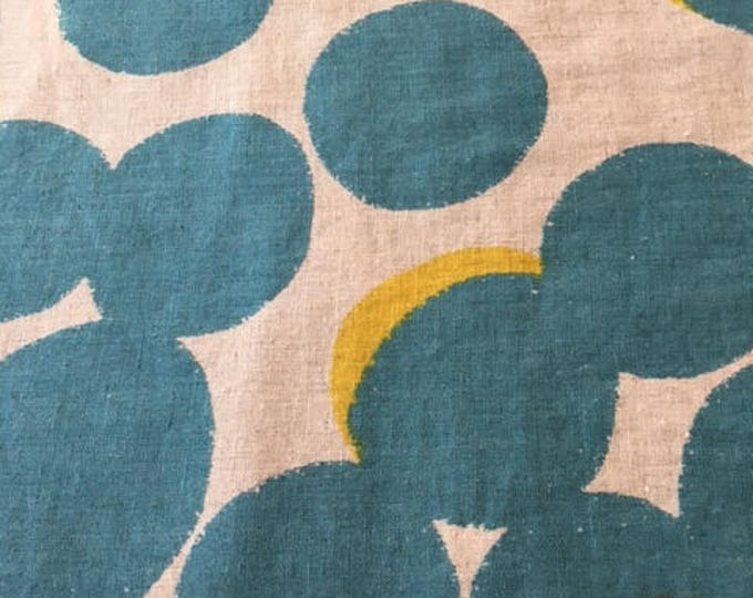 Kokka -Overlapping Dots in Teal- Linen