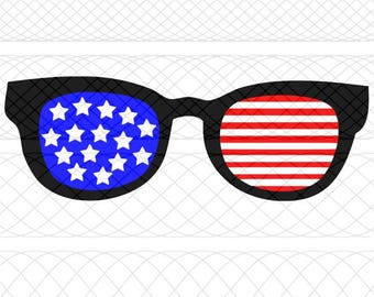 American Flag Sunglasses SVG, PNG, and STUDIO3 Cut File for Silhouette Cameo/Portrait and Cricut Explore Craft Cutters