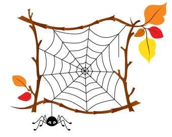 "Cute ""Autumn"" Illustration, digital card, clip art, printable, vector, instant download, illustration,branch, eps, ai, fall"