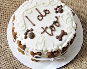 Dog Wedding Cake   I DO TOO Doggie Wedding Cake   Bridal Dog Cake   All natural peanut butter apple cake