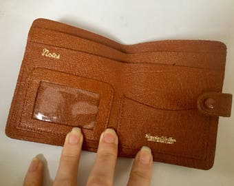 Tan Leather Vintage 1970s Mens Wallet - 9cm x 11cm - Made in England