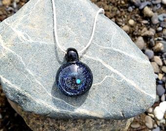 Glass Encased Opal Pendant