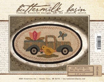 "Pattern: Mini Vintage Truck Thru the Year - April ""Chick"" by Buttermilk Basin"