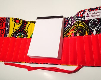 Tribal themed Crayon roll with Doodle pad