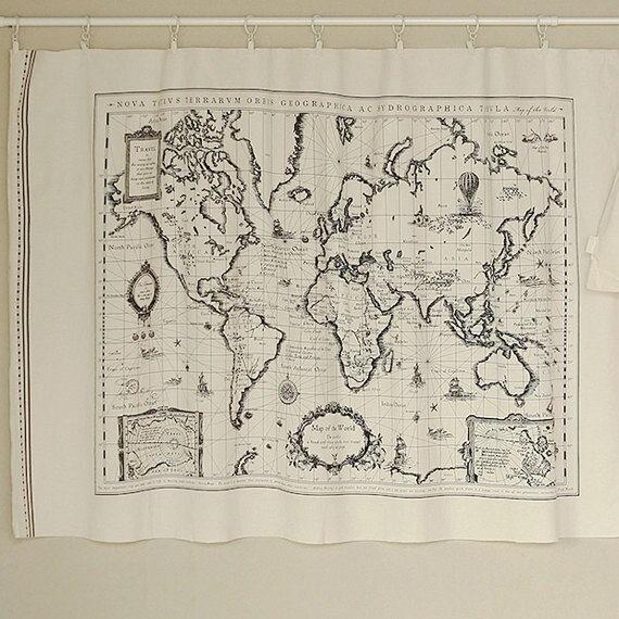 World map linen fabric world map curtain panel linen description linen and cotton blended fabric gumiabroncs Images