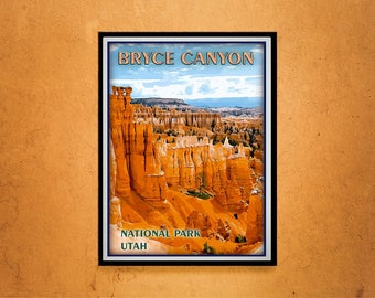 Reprint of a Vintage Travel Poster to Bryce Canyon Utah