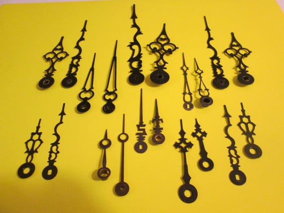 10 Pairs of Assorted Antique & Vintage Clock Hands for your Clock Projects, Steampunk Art, Jewelry Making and etc...