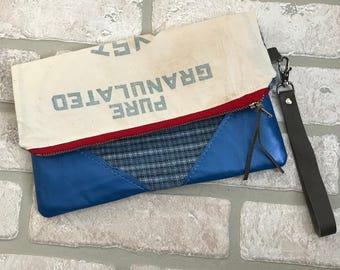 Crystal Sugar Fold Over Clutch Handbag Evening Bag