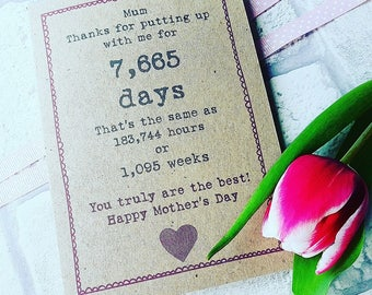 Mother's Day Personalised Card- Special Date