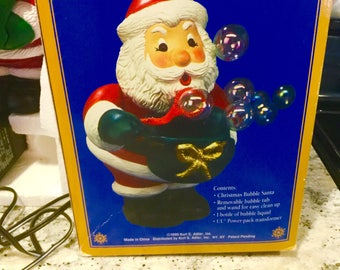 Vintage Kurt Adler Christmas Bubble Santa Ornament Santa's Action World