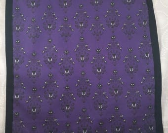 Custom Haunted Mansion Wallpaper print pocket square