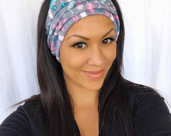 Head Band for Women. Tubular Style, Reversible, Many Wearing Options, Flu and Allergy Protection, Yoga, Cruise Hair, Neck Warmer, Scarf