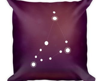 Square Pillow - Zodiac Capricorn Constellation Square Pillow