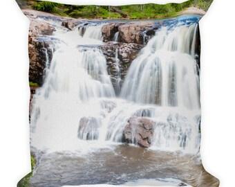 Square Pillow - Red Silo Original Art - Twin Falls