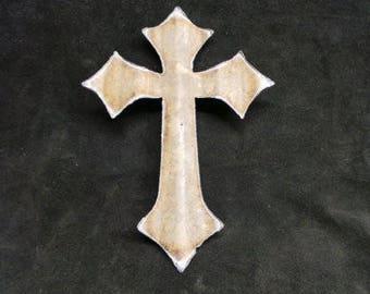 Large Corrugated Metal Cross Set of 3 or Set of 6