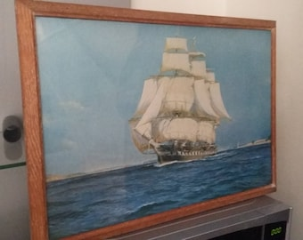 Vintage Ship Print The Blenheim