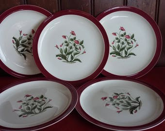 5 Vintage Retro Wedgwood Mayfield Dinner Plate 252 mm