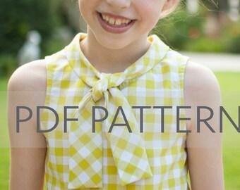 Penny Blouse PDF, girl blouse pattern, girl pdf, sewing pattern, children's pattern, top pattern, summer pdf, girl pattern, flutter pattern