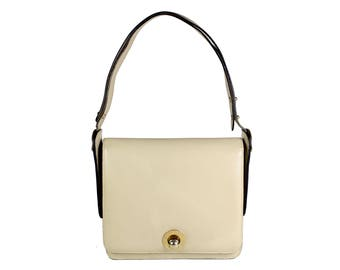 ARIES Vintage Black leather Shoulder Handbag