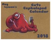 2018 Cute Cephalopod Calendar Octopus Squid Art