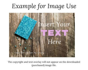 Teal Bling Journal with Jewelry Beads-Farmhouse Plank Wood Background-fashion blog - digital download-horizontal Image download as .jpg
