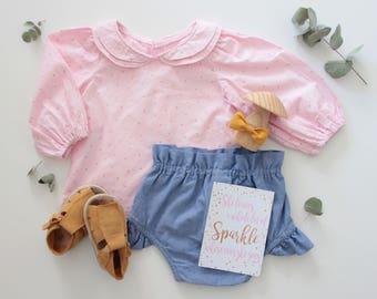 Pink Vintage Girl Blouse