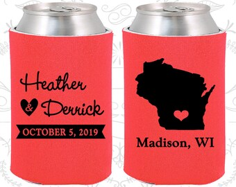 Tangerine Wedding, Tangerine Can Coolers, Tangerine Wedding Favors, Tangerine Wedding Gift, Tangerine Party Decorations (148)