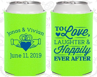 Neon Green Wedding, Neon Green Can Coolers, Neon Green Wedding Favors, Neon Green Wedding Gift, Neon Green Wedding Decorations (446)