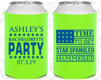 Time to get Star Spangled Hammered, Bachelorette Gift ideas, 4th of July Bachelorette Party, Bachelorette Gift (60025)