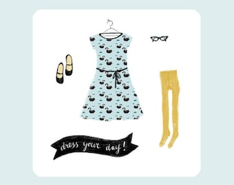 Card Dress your day