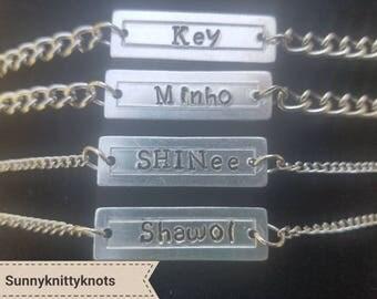SHINee Kpop Name Bracelets