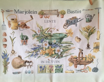 Large Cross Stitch Embroidery Marjolein Bastin Spring in the Garden