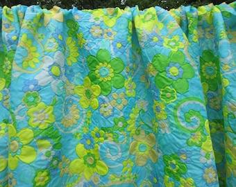 fabric 4.5 yards / vintage flower power / lightweight nylon