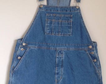 Vintage Bib overalls denim jean short all women's bib overalls men's shortalls salopette femme  dungarees short bib overalls