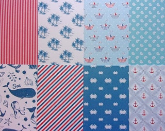 8 sheets creative Theme sea 30 x 15 cm new scrapbooking/cardmaking