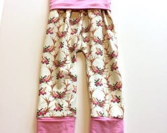 Boho Maxaloones  (no bum circle)- 1 to 3 years,  ~ Ready to Ship, cloth diaper pants, baby, toddler clothes