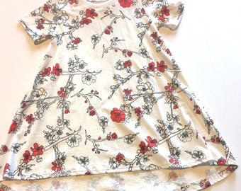 Baby Girl Dress 5T , Flowers -  Ready to ship