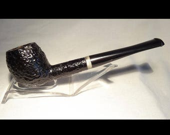 """New Chambersburg Pipe Works Rusticated Apple with Faux Peal Acrylic Band –A """"Remade"""" Pipe"""