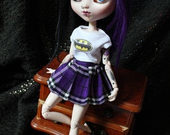 For Pullip Scottish tartan skirt