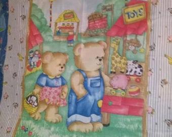 Teddy Bears County Fair Quilt Panel