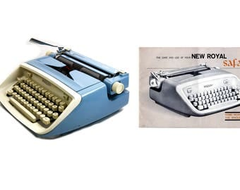 Royal Safari Portable Typewriter Owner's Manual - Early 1960s Royal Portable Safari Typewriter Instructions Digital Download