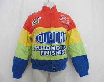 NASCAR Bomber Jacket Size Large Chase-Authentics DuPont Jeff Gordon Race