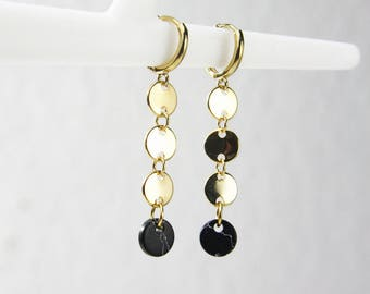 Marble circle earrings gold plated earrings A21