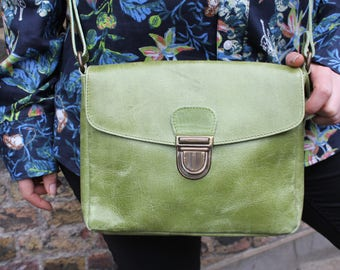 Louisa Simple Small Satchel Apple Green