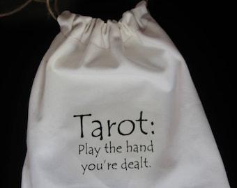 Natural Drawstring Bag Pouch for Tarot Cards Decks Pagan Gift Divination
