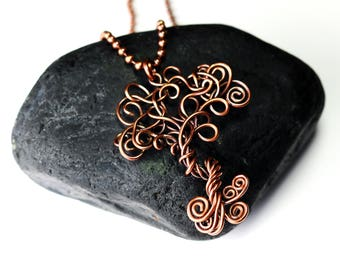 Copper Tree Pendant - tree of Life Pendant - Wire Wrapped Necklace - Made in Alaska - Alaska Art
